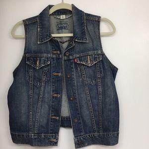 Levi Blue Jean Vest